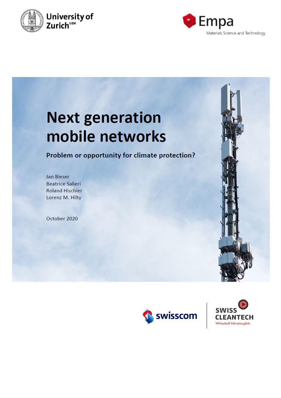 Estudo Universidade de Zurik - Redes móveis de próxima geração - problemas ou oportunidades para a proteção climatérica