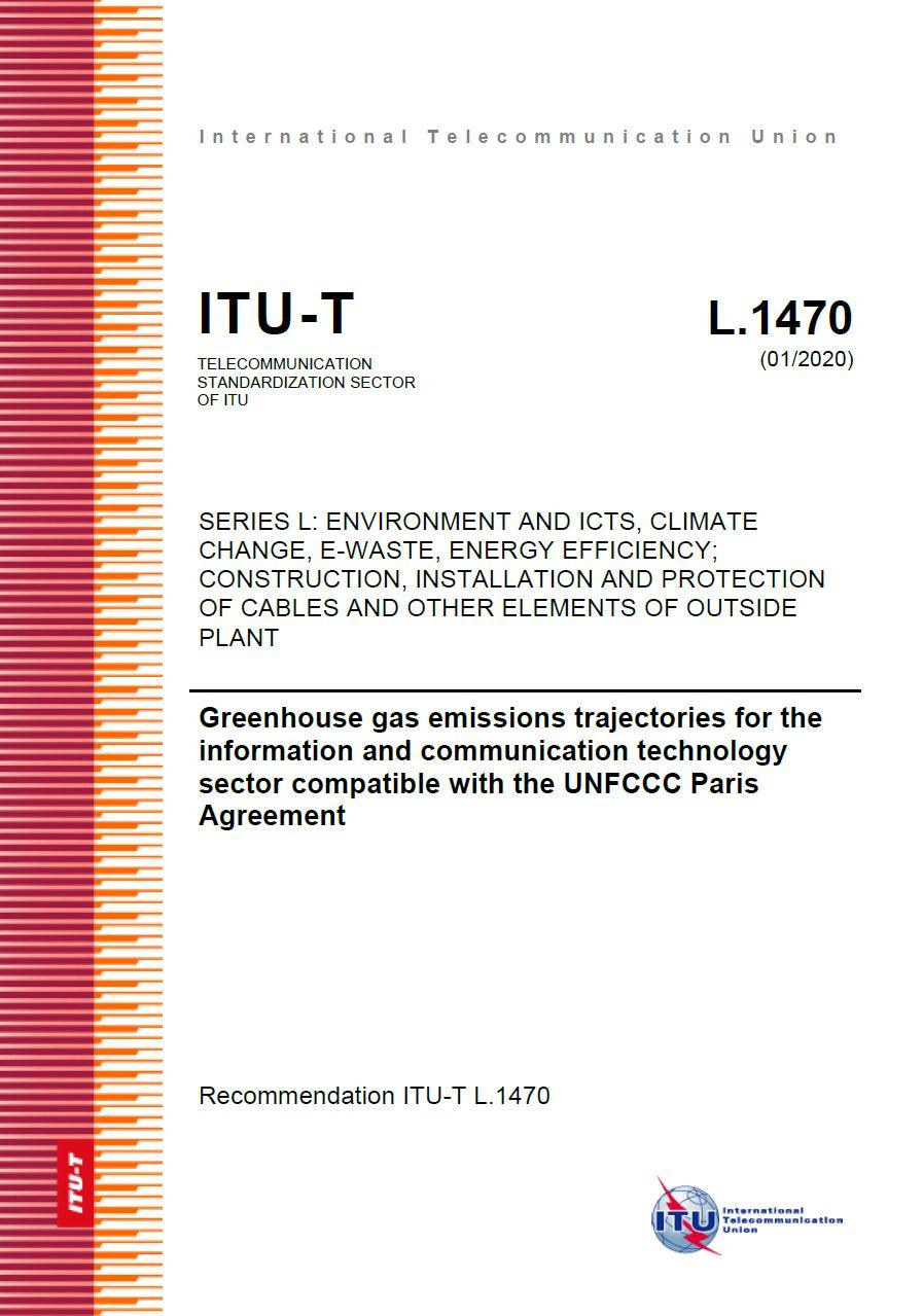 UIT - Recomendação sobre trajetórias de emissões de gases de efeito estufa para o setor de tecnologia da informação