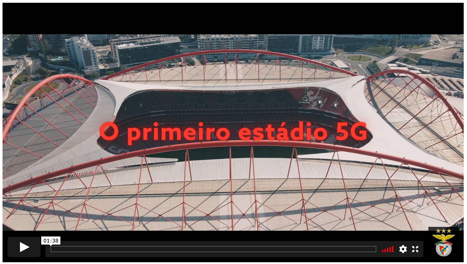 Benfica - o primeiro estádio 5G